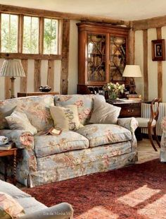 38 Ideas For Shabby Chic Living Room Cozy Cottage Style Style Cottage, English Cottage Style, English Country Cottages, English Country Style, English House, Cottage Design, Cozy Cottage, Cozy House, French Cottage