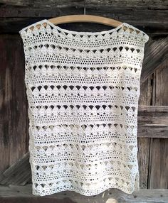 Crochet sleeveless blouse
