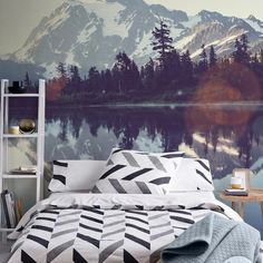 Wall Mural Picture lake   • Inspirations • PIXERSIZE.com