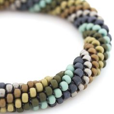 Midnight Mesa Bracelet | Fusion Beads Inspiration Gallery | The mix of colors in this bracelet are absolutely perfect! | Pantone stormy weather