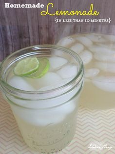 Easy Homemade Lemonade Recipe for Summer! Perfect for Lemonade Stands and Garage Sales!