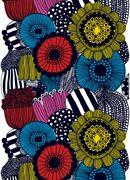 Why not use marimekko fabric to update your home decor . Marimekko fabric can be stretched over a frame to create a piece of wall art. Textile Patterns, Textile Design, Fabric Design, Pattern Design, Textiles, Colour Pattern, Textile Prints, Pvc Fabric, Cotton Fabric