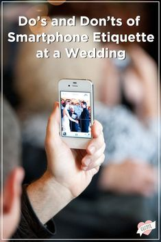 Make sure your guests are courteous when capturing your big day - don't miss out on these stellar smartphone etiquette tips for weddings!