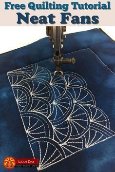 Learn how to machine quilt Neat Fans in a free quilting tutorial with Leah Day.