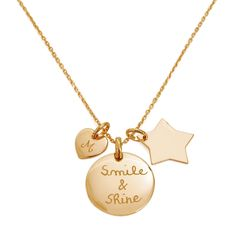 Personalised Symbol Necklace by Merci Maman, the perfect gift for Explore more unique gifts in our curated marketplace. Personalized Gifts For Her, Mini Heart, Hand Engraving, 18k Gold, Motto, Gold Necklace, Sterling Silver, Unique Jewelry, Thank You Mom