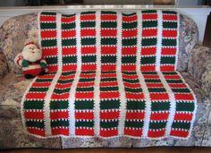 Christmas Spirit Mile a Minute Afghan | AllFreeCrochetAfghanPatterns.com