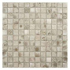 Laceo Grey 12 in. x 12 in. x 6 mm Porcelain Mosaic Tile