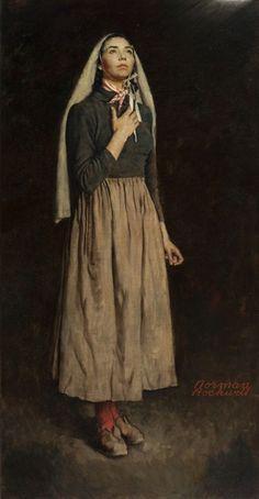 Norman Rockwell Bernadette