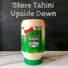 Anyone do this?  Helps keep tahini mixed!  Also you gotta try this brand. Life changing in hummus  I buy it in bulk on @Amazon
