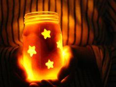 Star Jars, safe mason jar lanterns for kids, via Momtastic