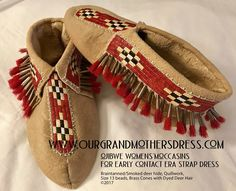 Mocs of Siobhan Marks Woodland Indians, Deer Hide, Native American Artists, Quilling, Art Pieces, Iroquois, Native Americans, Ottawa, Beadwork