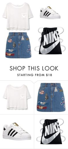 """untitled"" by sarah-amira ❤ liked on Polyvore featuring MANGO, Marc Jacobs, adidas and NIKE"