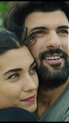 Tuba Buyukustun as Elif and Engin Akyürek as Ömer in the Turkish TV series KARA PARA ASK, 2014-2015.