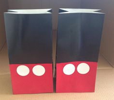 Mickey Mouse Birthday Goodie Favor Bags  by IttyBittyDiva on Etsy, $1.50