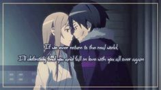 "Kirito and Asuna of ""Sword Art Online"""