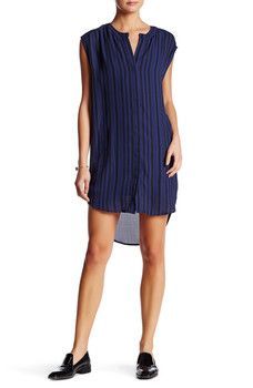 BB Dakota - Broxton Striped Sleeveless Shirtdress