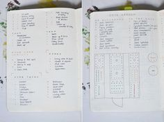 bullet journal cleaning routine and gardening plans
