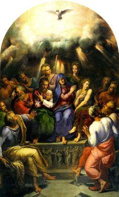 Girolamo da Carpi, The Pentecost, c. 1530s