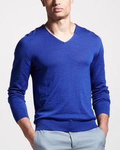V-Neck Cashmere Sweater by Maison Martin Margiela at Bergdorf Goodman.