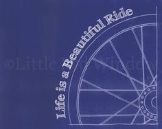 Bike Wheel Blueprint Printable Print -- Instant Download -- 8 X 10 --nursery Art…