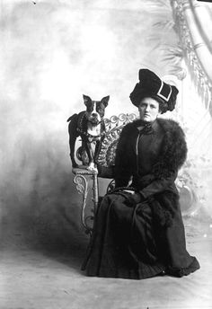 Woman with her Boston Terrier, Pensacola, late 1800s