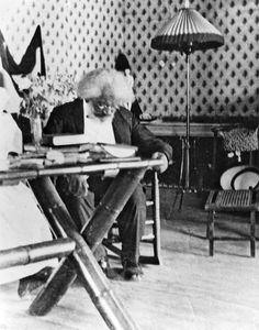 Frederick Douglass in the late 1800's, a self-educated man, reading - so amazing. (Courtesy of National Park Service, Frederick Douglass NHS)