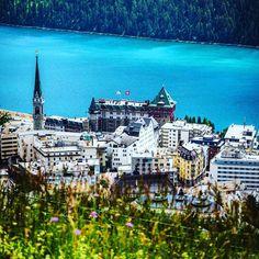 Summer spot in st Moritz St Moritz, Alps, Summer, Saints, Mountains, Mansions, House Styles, Travel, Instagram