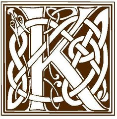 Celtic font for monogram! Kind of a cute idea for the nursery!
