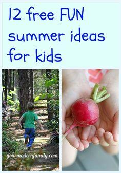 Free Summer Ideas for Kids #kids #summer #fun #activites