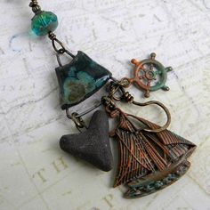 Captain Hook Necklace  Once Upon A Time Necklace  OUAT by Msemrick
