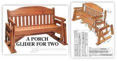 Porch Glider Plans - Outdoor Furniture Plans & Projects | WoodArchivist.com