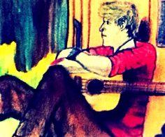 Niall Horan Chalk Drawing
