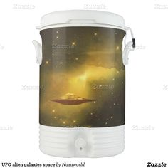 UFO alien galaxies space Igloo Beverage Cooler from Zazzle