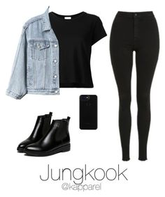"""Café Date in Winter: Jungkook"" by kapparel ❤ liked on Polyvore featuring Topshop, RE/DONE, Gap and WithChic"