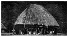 Samoan Round House With Chiefs Sitting In Council