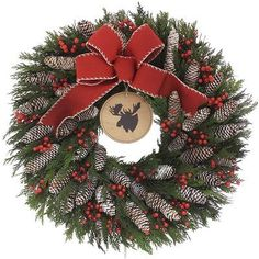 Wayfair Cabin Life 22 Wreath- Click on the image for more info - #christmasdecor #christmaswreaths #christmas | christmas wreaths | christmas wreaths diy | christmas wreaths for front door | Artificial Christmas Wreaths | Christmas decorations - Wreaths | Christmas Wreaths & Decor | Christmas Wreaths |