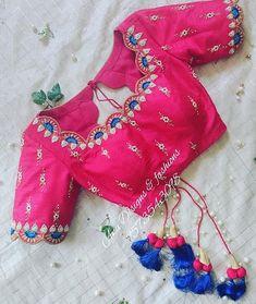 Blouse Back Neck Designs, Pattu Saree Blouse Designs, Simple Blouse Designs, Silk Saree Blouse Designs, Stylish Blouse Design, Bridal Blouse Designs, Silk Sarees, Blouse Patterns, Salwar Designs