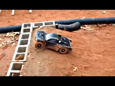 How to make a backyard RC car track - tips and techniques - YouTube