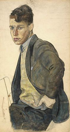 Study for Male Student in 'A Portrait Group', James Cowie - about 1932-33.