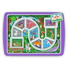 With our magical Dinner Winner Plate Enchanted Forest Edition, your little nugget will meet bunnies, fairies, gnomes, unicorns and more along the way!  And if that wasn't treat enough, you get to surprise them with their favorite dessert once they've reached their destination!   Princess and the Pea tantrums no more!  This interactive tray helps even the fussiest eaters make it through a meal!