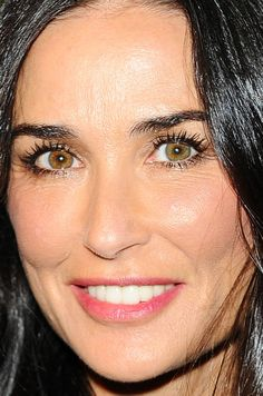 Close-up of Demi Moore at the 2015 Salvatore Ferragamo 100th year celebration. http://beautyeditor.ca/2015/09/14/best-beauty-looks-lily-collins