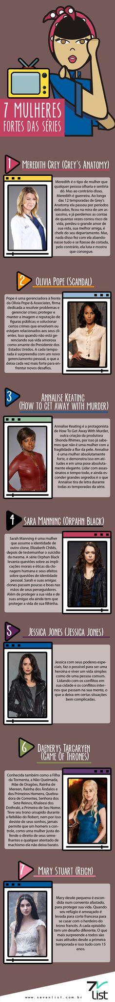 #Infográfico #Infographic #SevenList #Desenho #Illustration #Ilustração #Listas #List #Televisão #TVShow #AnnaliseKeating #DaenerysTargaryen #GameOfThrones #Girlpower #Grey'sAnatomy #How ToGetAwayWithMurder #Jessica Jones #Mary Stuart, #MeredithGrey #Mulheres #Netflix, #OlivaPope, #OrphanBlack #Reign #SaraManning #Scandal #Seriado #Séries #TV