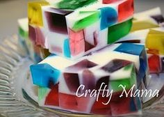 Mosaic Jello.... Wonder if you can add vodka to these to make jello shots?
