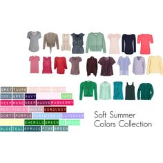 """""""Soft Summer Colors Collection"""" by katestevens on Polyvore"""
