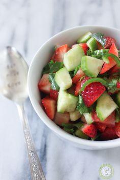 Strawberry Salsa. Vegan.  Gluten Free.