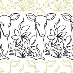 "Garden Guest - Paper - 10"" - Quilts Complete - Continuous Line Quilting Patterns"
