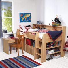 Reece Midsleeper Cabin Bed - Beech