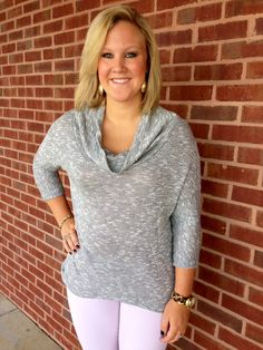 Courtney is sporting our new cowl-neck grey sweater. Now available at Emma Laura-Graceful Gold located in Ivy Place 2032B Veterans Blvd. Dublin, GA 31021 478-272-2095 www.emmalaura.com Check us out on Facebook at https://www.facebook.com/pages/GRACEFUL-GOLD-JEWELRY-CO/163839008625