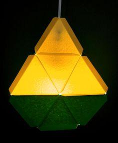 modular geometric paper lamps 5 designs