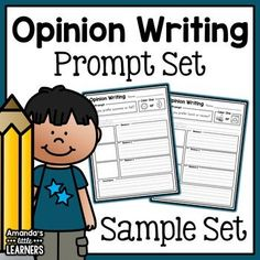 Opinion Writing Prompts Sample - Free First Grade Writing Prompts, Opinion Writing Prompts, Writing Lessons, Writing Workshop, Writing Ideas, Creative Writing, Education And Literacy, Teaching Resources, Teaching Tools